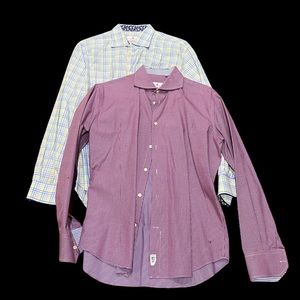 EREDI PISANO**2 x Men's Shirts**Size 43&44 EUC